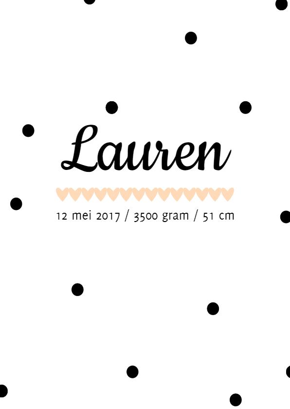 Geboortekaartjes - Geboortekaartje Lauren