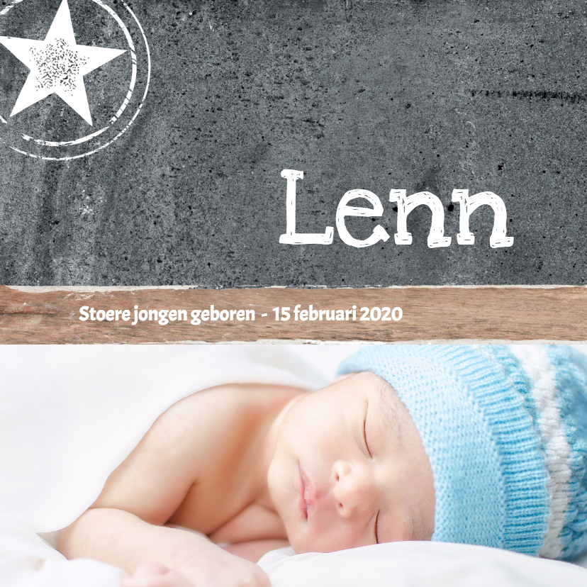 Geboortekaartjes - Geboortekaartje_Lenn_SK
