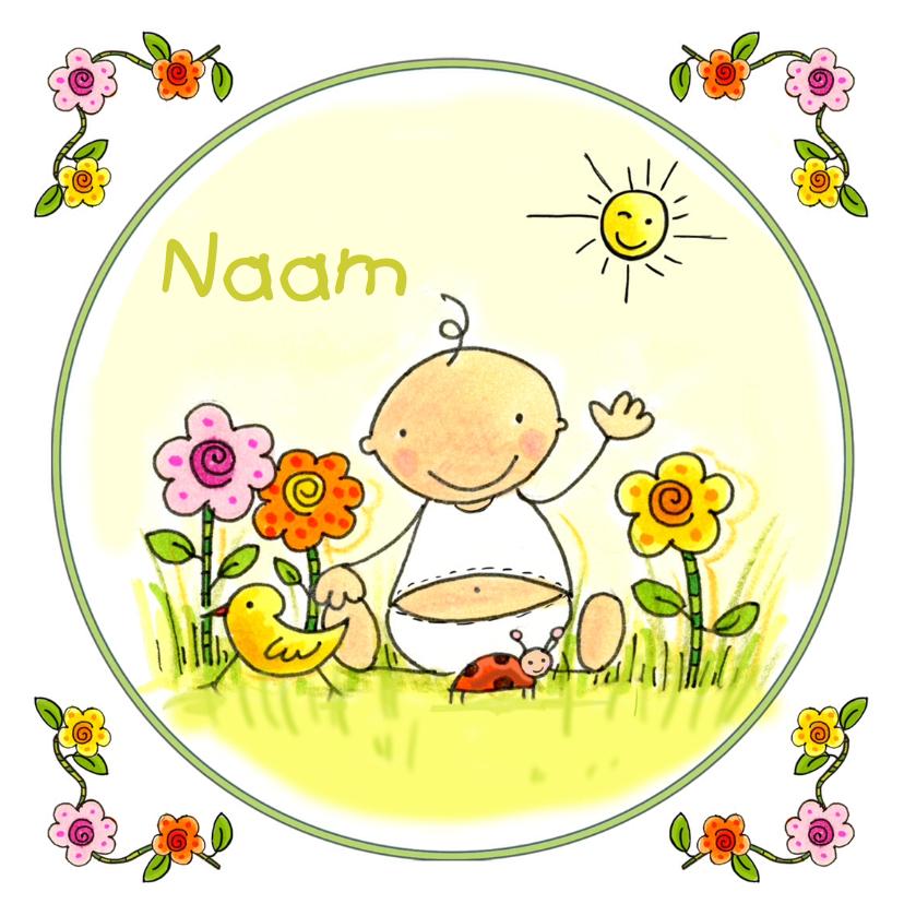 Geboortekaartjes - Geboortekaartje lente zomer kind