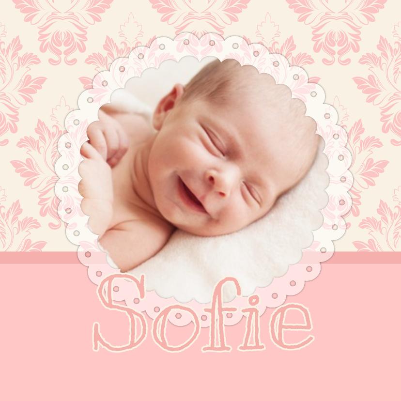 Geboortekaartjes - Geboortekaartje lief barok 1LS3