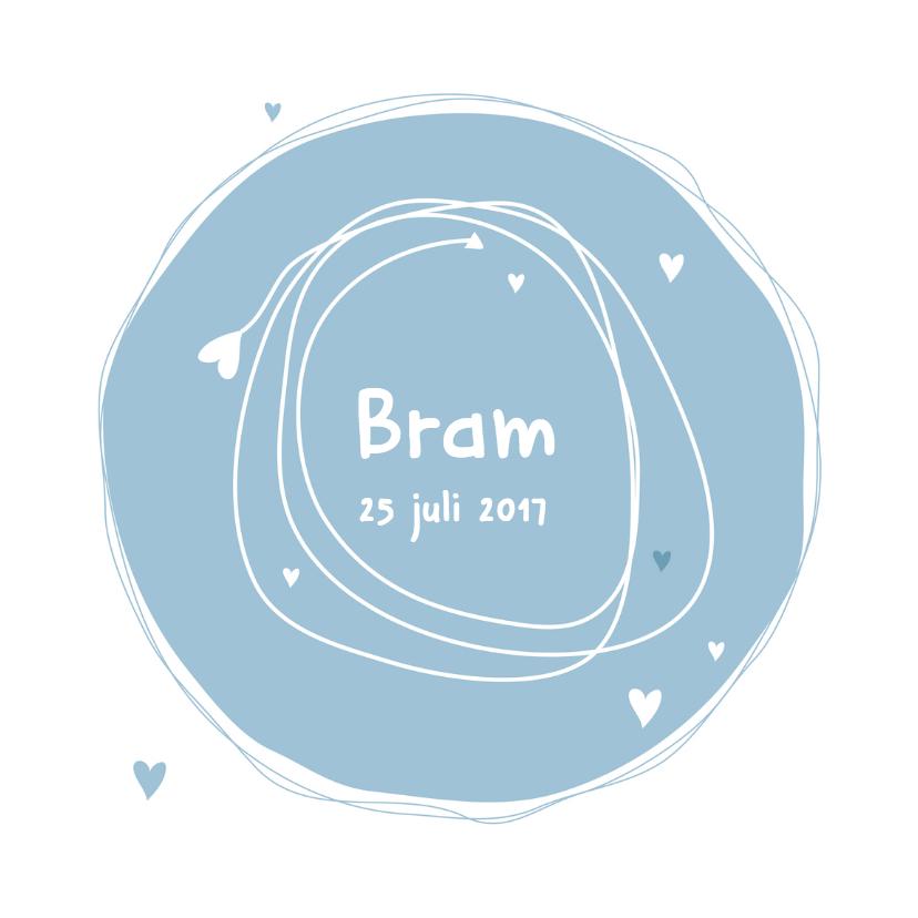 Geboortekaartjes - Geboortekaartje lief eenvoudig B