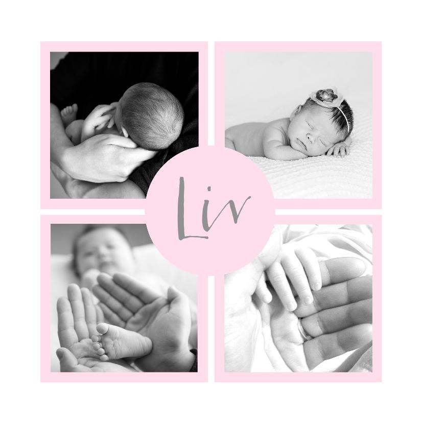 Geboortekaartjes - Geboortekaartje lief fotovakjes