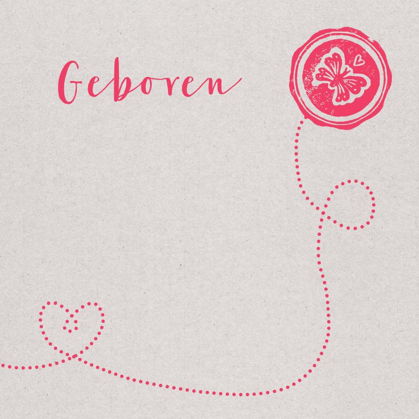 Geboortekaartjes - Geboortekaartje lief meisje foto