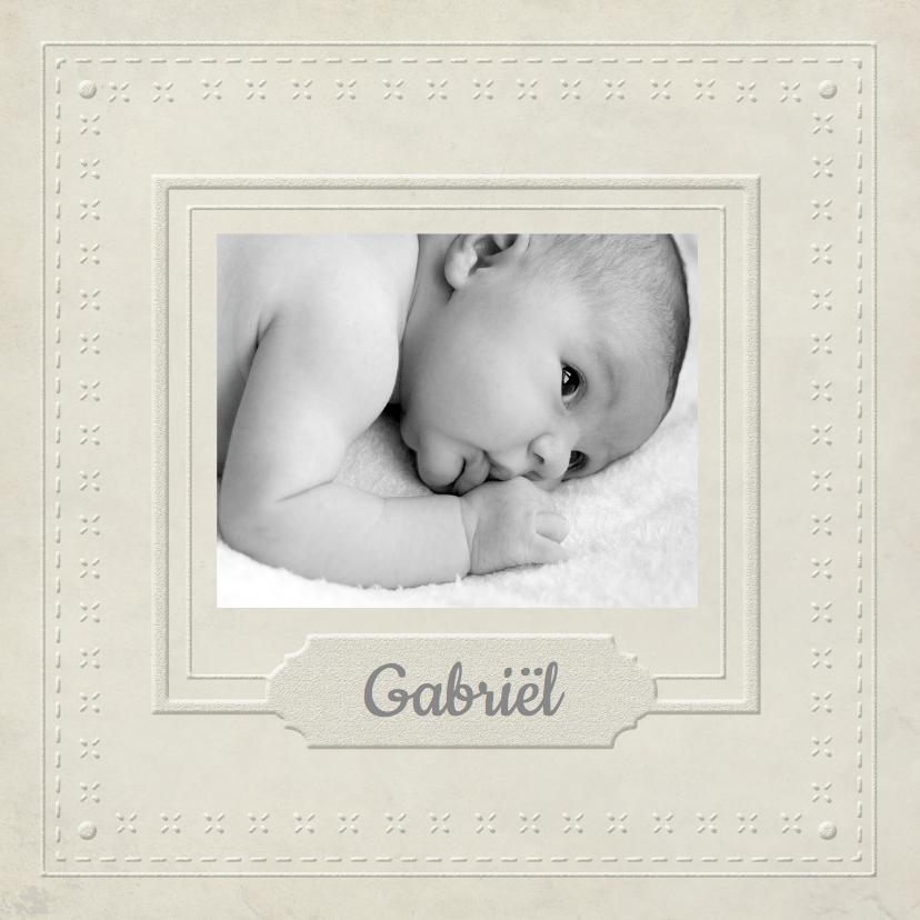 Geboortekaartjes - Geboortekaartje lijst Wit 1LS3