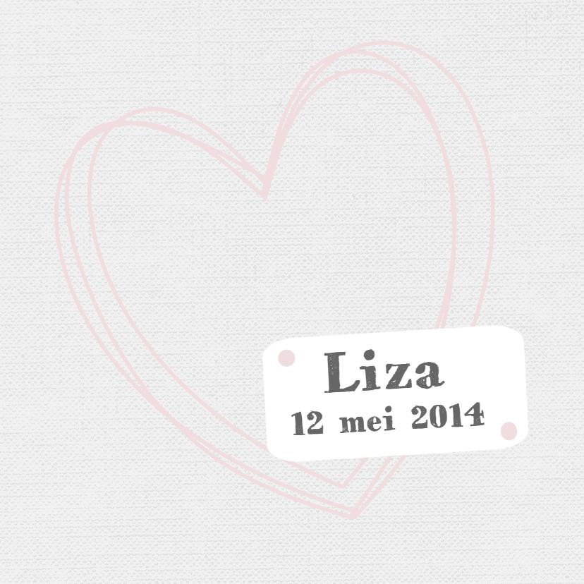 Geboortekaartjes - Geboortekaartje Liza