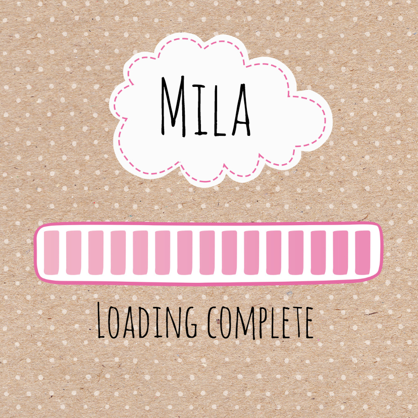 Geboortekaartjes - Geboortekaartje Loading Mila