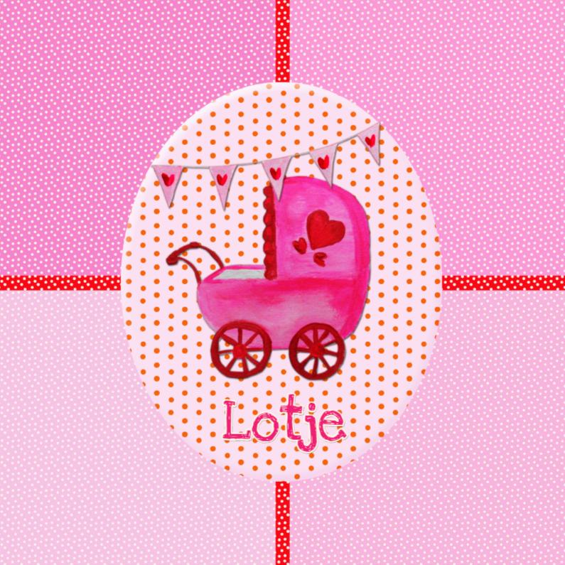 Geboortekaartjes - Geboortekaartje Lotje PA