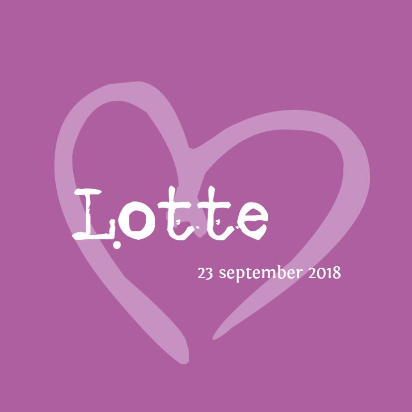 Geboortekaartjes - Geboortekaartje Lotte LS