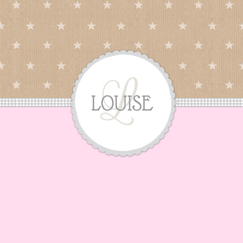 Geboortekaartjes - Geboortekaartje Louise papier