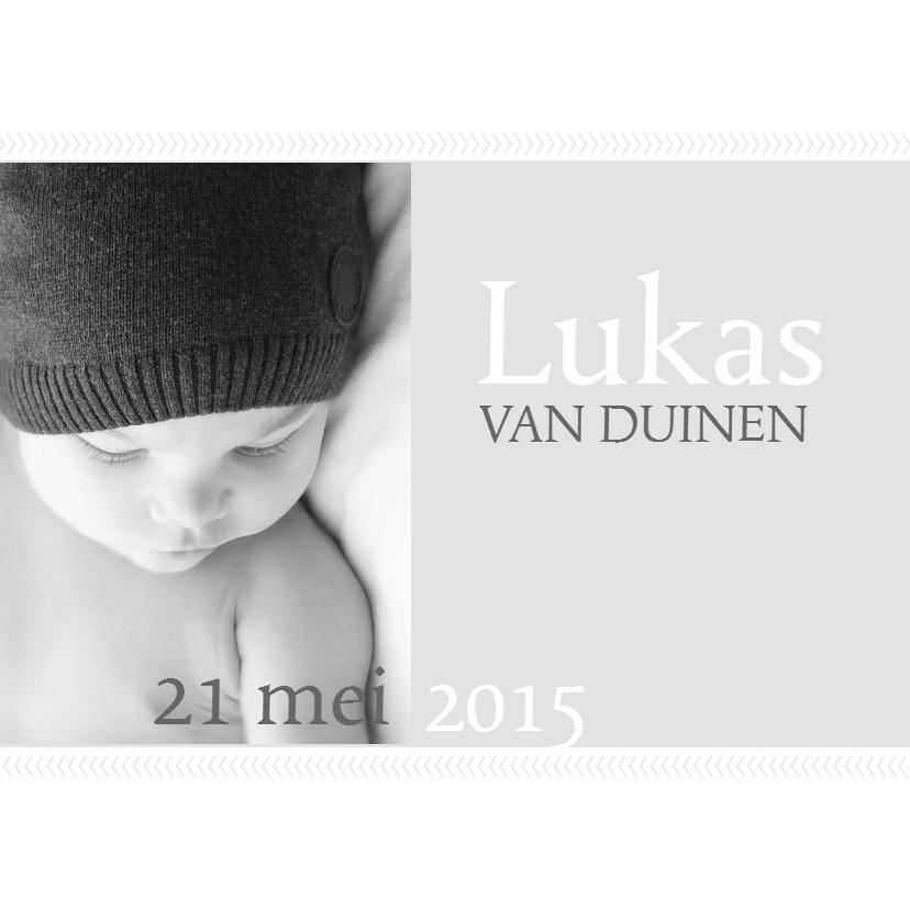 Geboortekaartjes - Geboortekaartje Lukas