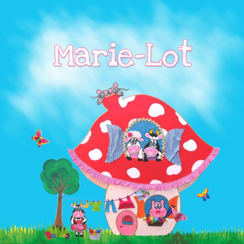 Geboortekaartjes - Geboortekaartje Marie-Lot PA
