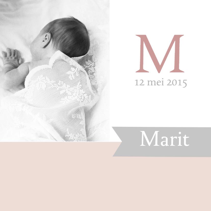 Geboortekaartjes - Geboortekaartje Marit