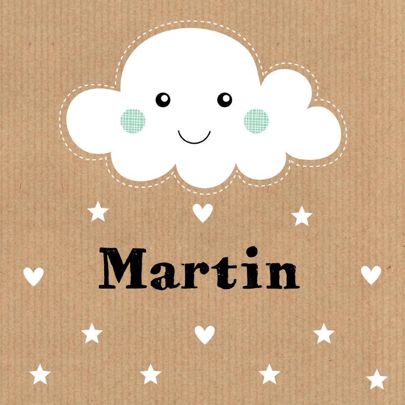 Geboortekaartjes - Geboortekaartje Martin wolk LB