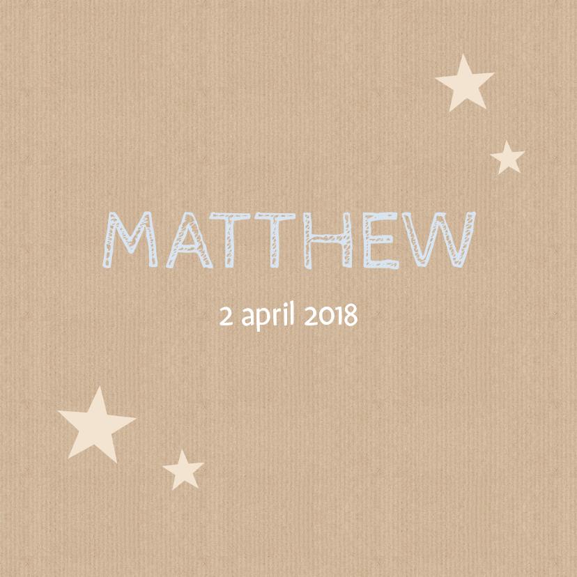 Geboortekaartjes - Geboortekaartje Matthew papier