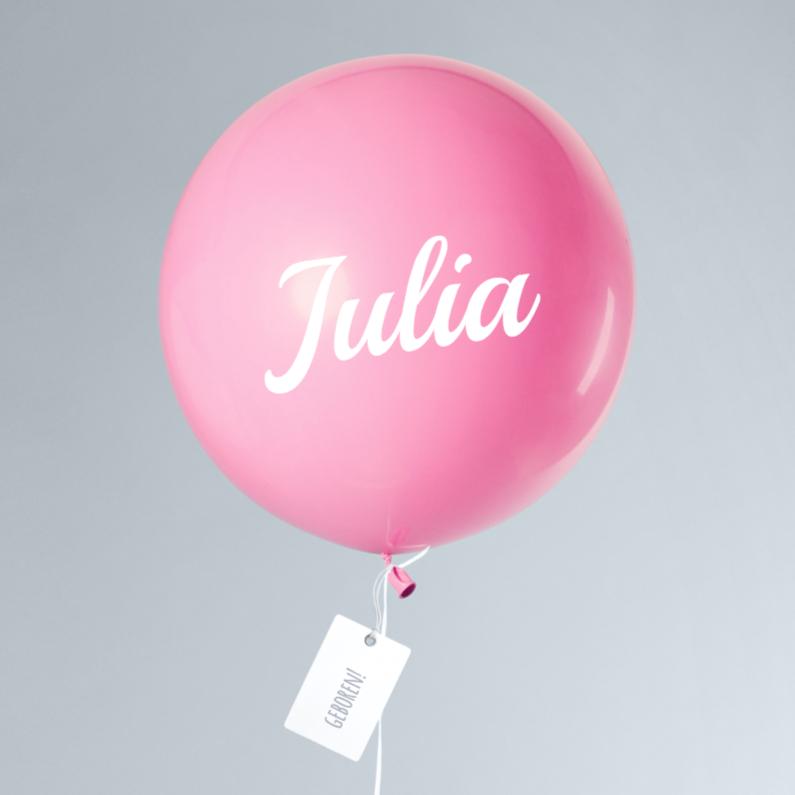 Geboortekaartjes - Geboortekaartje Meisje Ballon