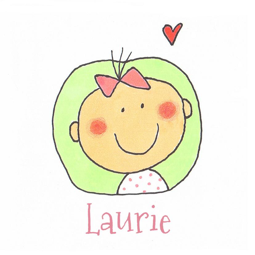 Geboortekaartjes - Geboortekaartje meisje cirkel