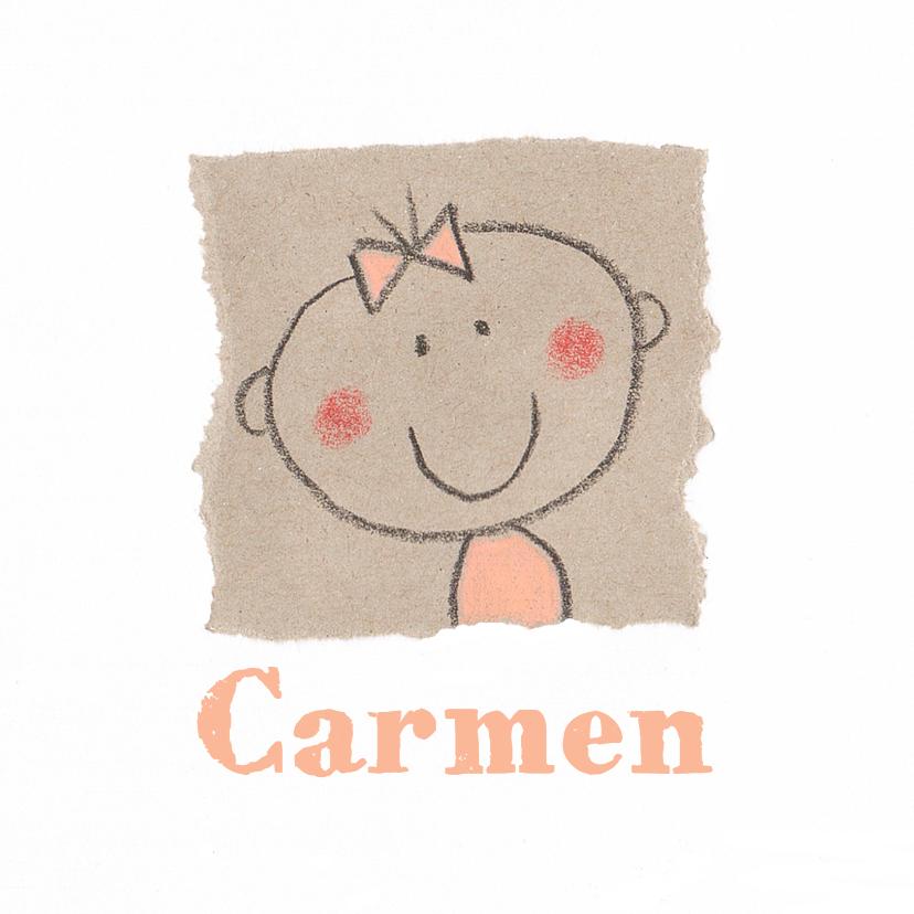 Geboortekaartjes - geboortekaartje meisje collage