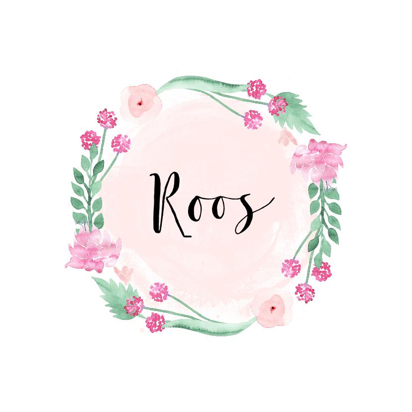 Geboortekaartjes - Geboortekaartje meisje flower