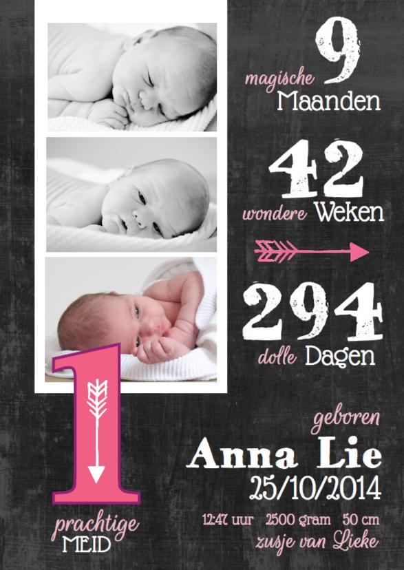 Geboortekaartjes - Geboortekaartje meisje foto's