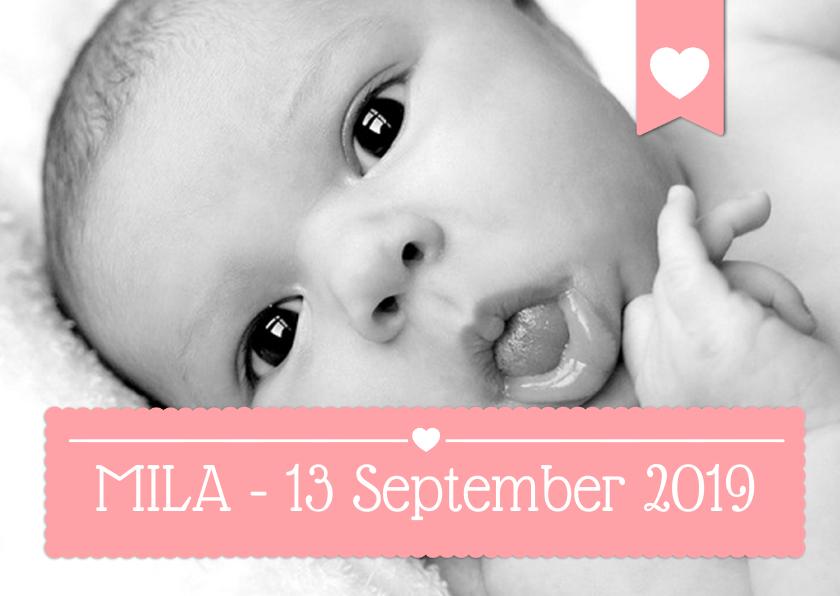 Geboortekaartjes - Geboortekaartje Meisje Foto