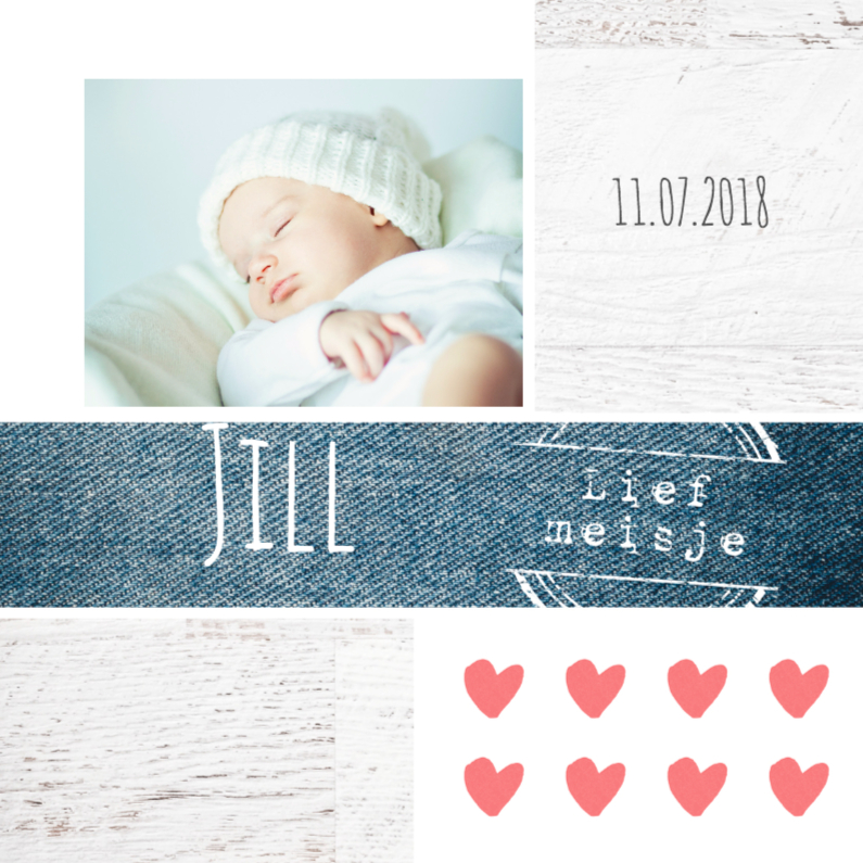 Geboortekaartjes - Geboortekaartje meisje Jill