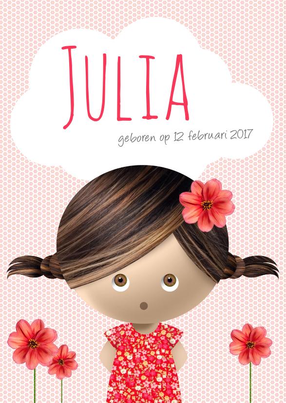Geboortekaartjes - Geboortekaartje Meisje Julia