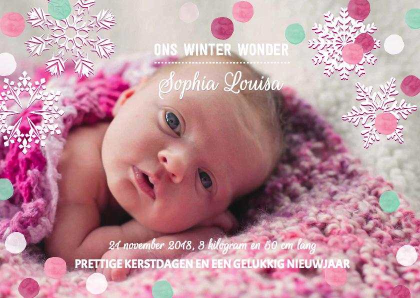 Geboortekaartjes - Geboortekaartje Meisje Sneeuw