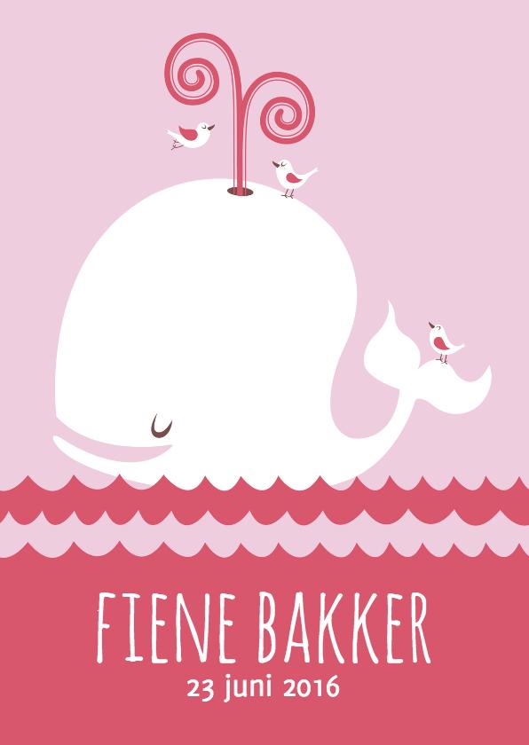 Geboortekaartjes - Geboortekaartje meisje walvis