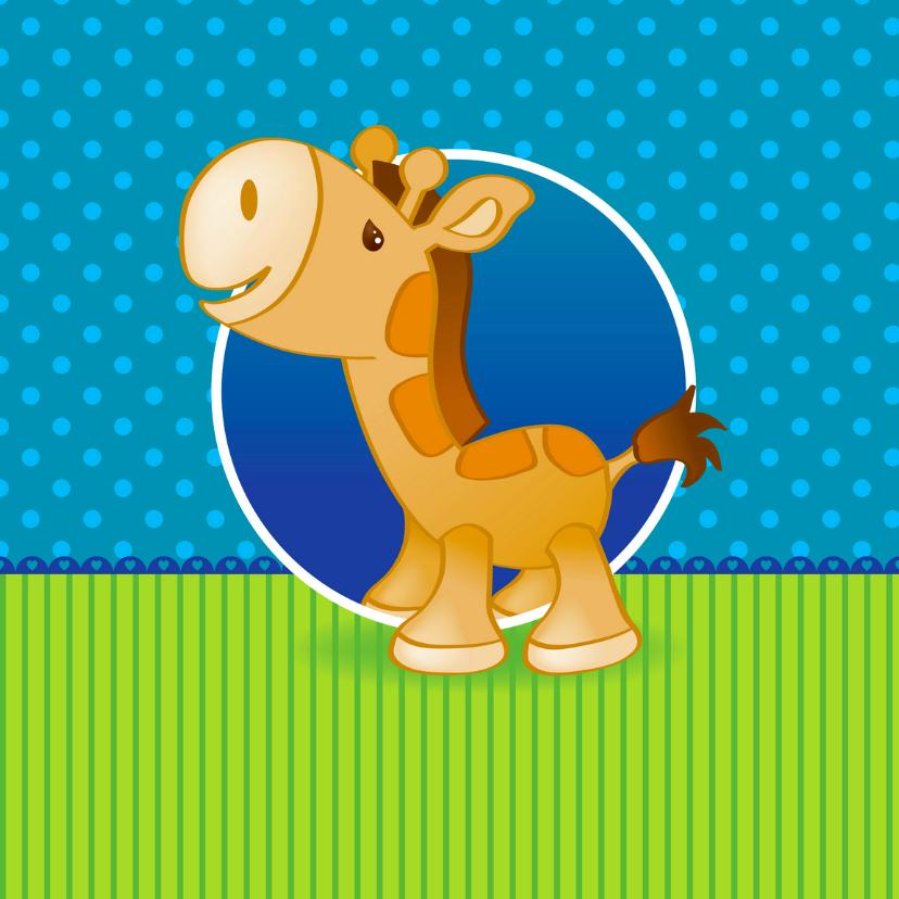 Geboortekaartjes - Geboortekaartje met giraffe