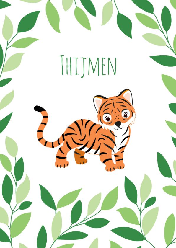 Geboortekaartjes - Geboortekaartje met lieve tijgertjes