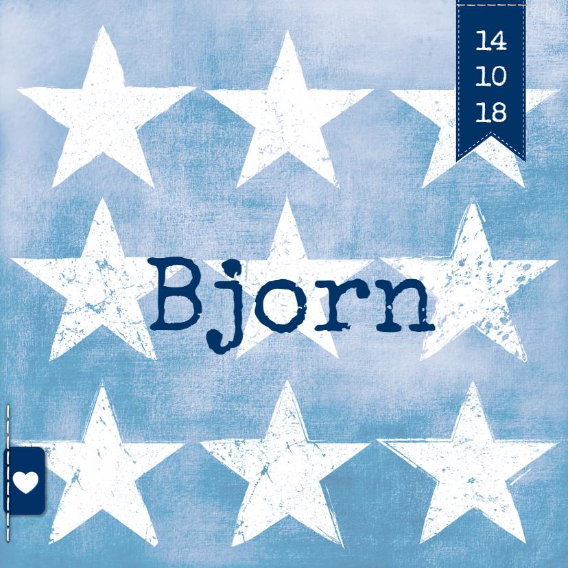 Geboortekaartjes - Geboortekaartje met sterren