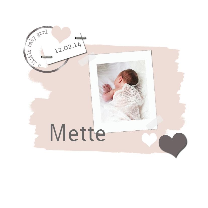 Geboortekaartjes - Geboortekaartje Mette