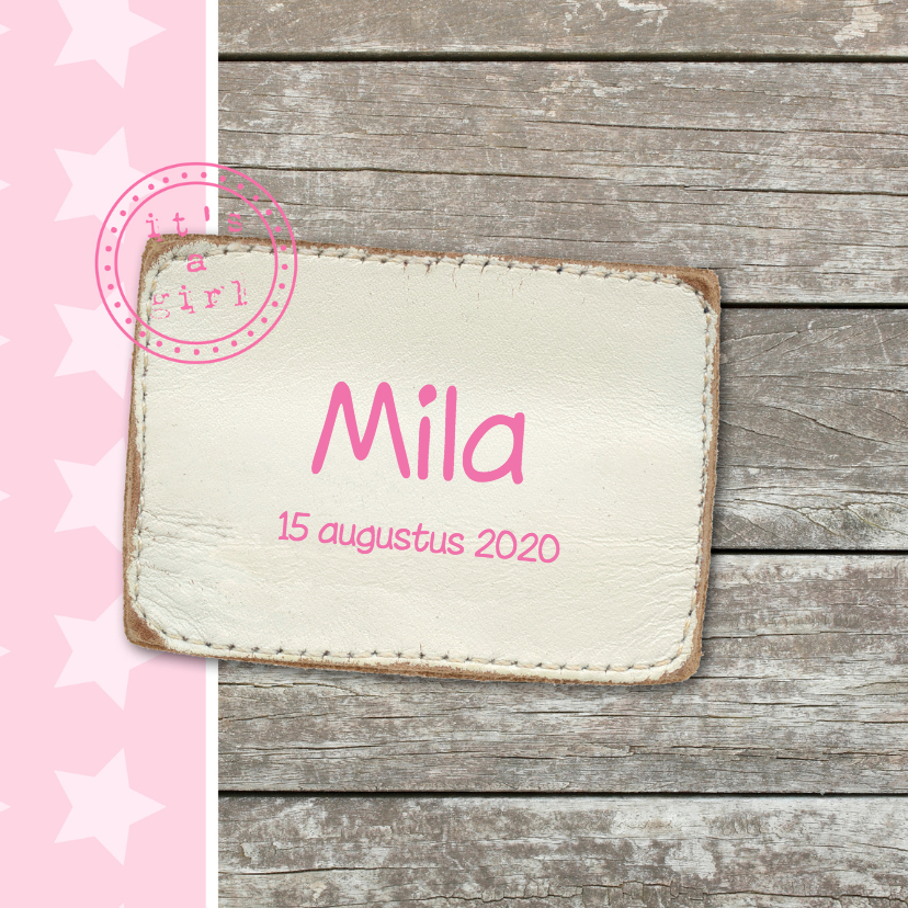 Geboortekaartjes - Geboortekaartje Mila