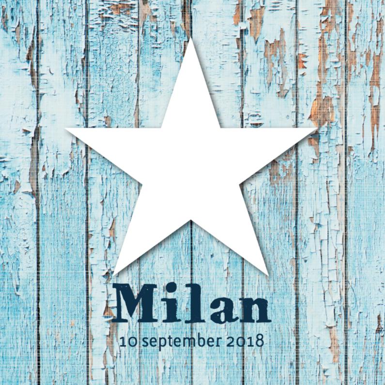 Geboortekaartjes - Geboortekaartje Milan