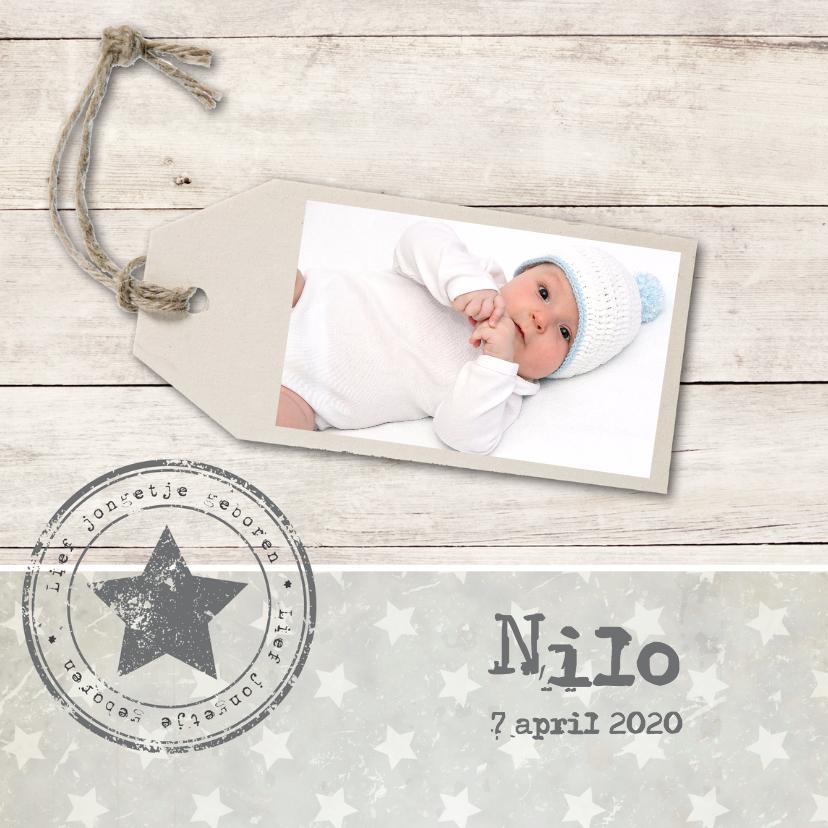 Geboortekaartjes - Geboortekaartje Nilo