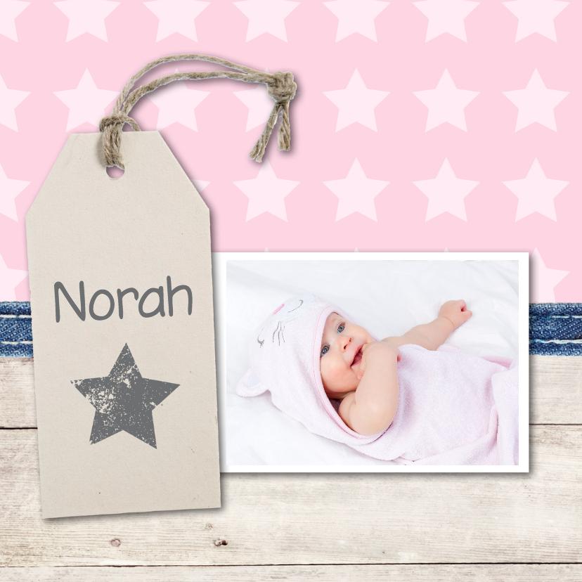 Geboortekaartjes - Geboortekaartje Norah