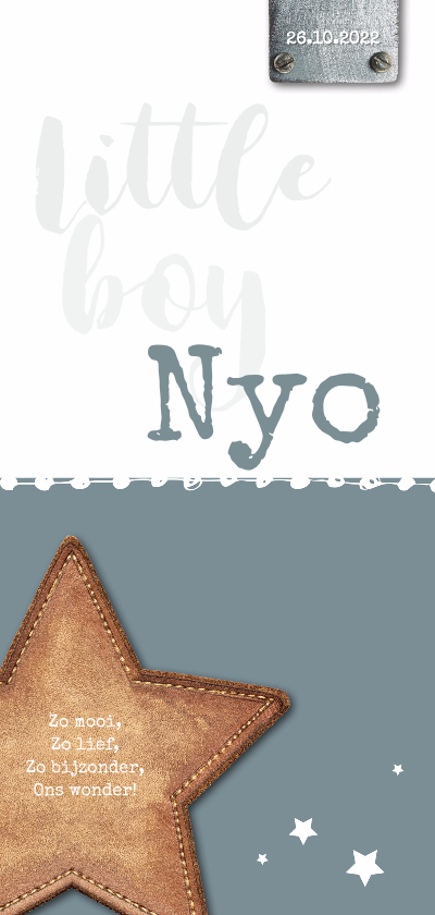 Geboortekaartjes - Geboortekaartje_Nyo_SK