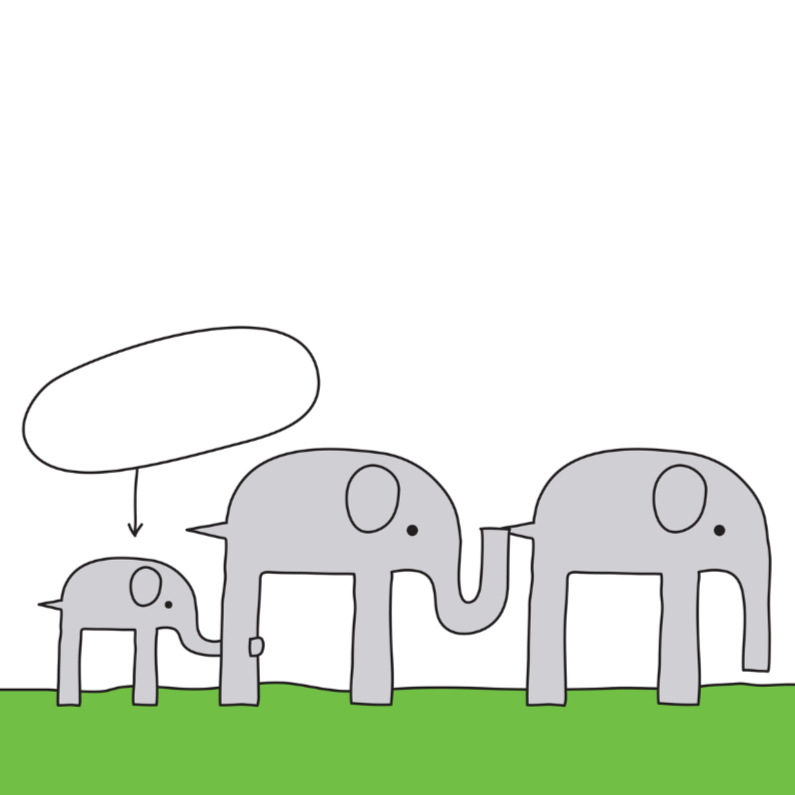 Geboortekaartjes - Geboortekaartje Olifant Familie