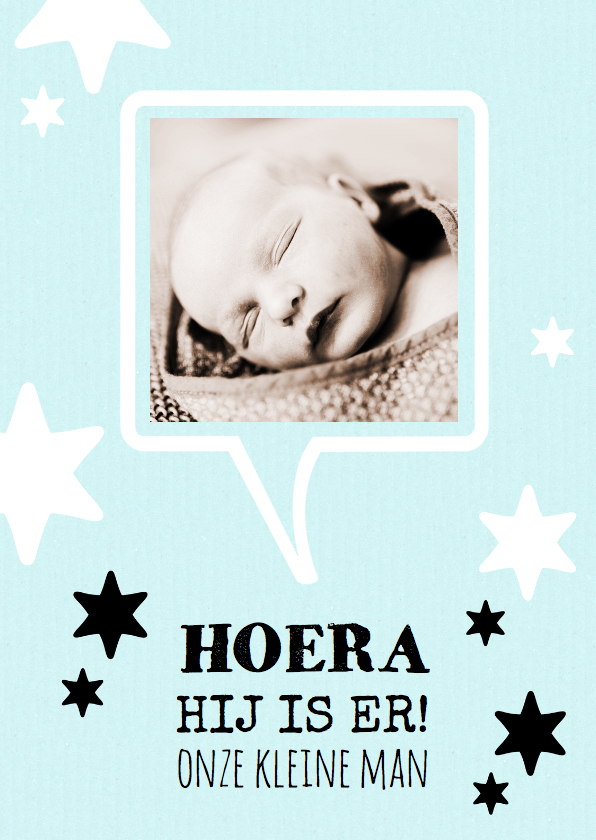 Geboortekaartjes - Geboortekaartje pastel blauw boy