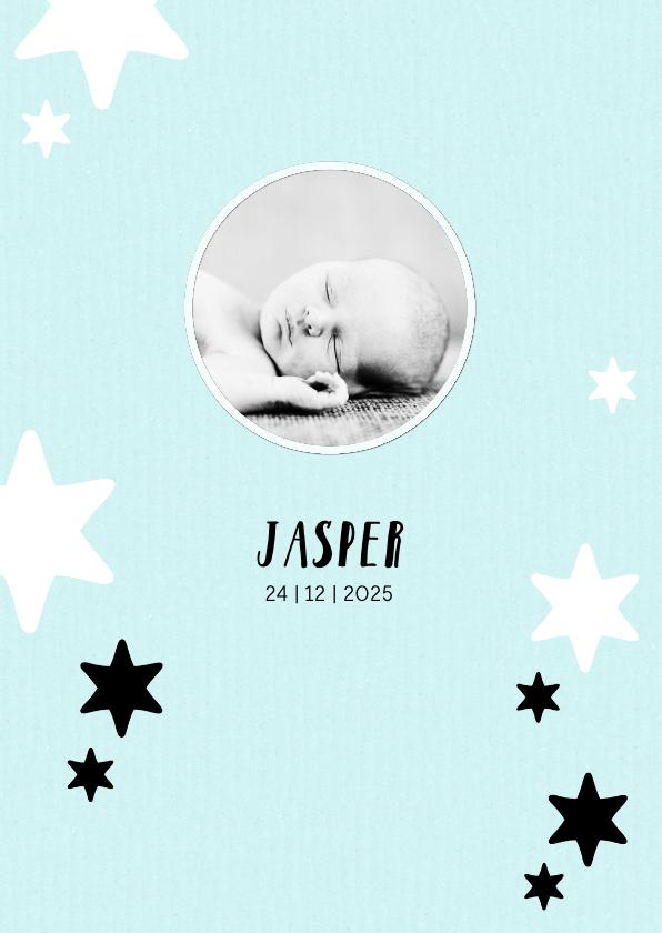 Geboortekaartjes - Geboortekaartje pastel sterren