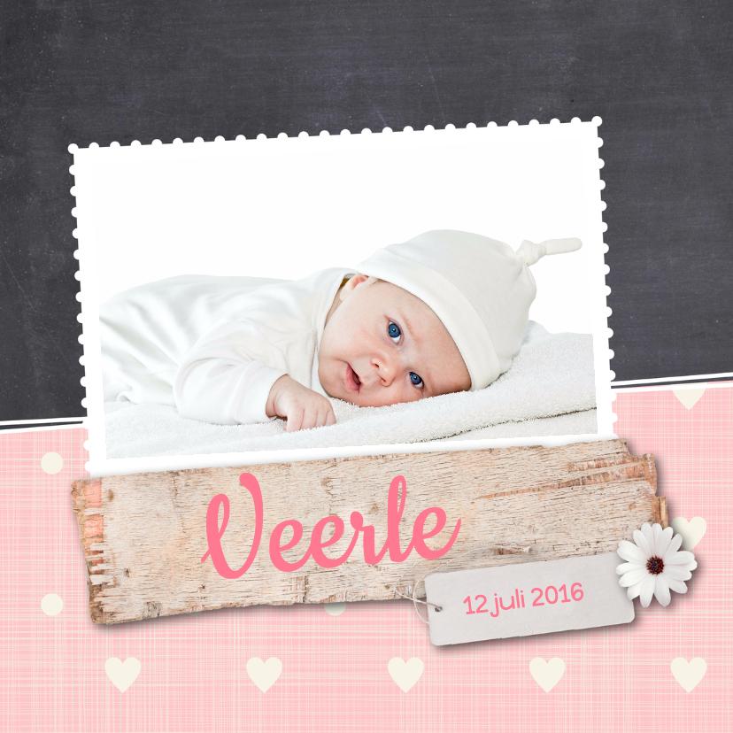 Geboortekaartjes - Geboortekaartje-plank-Veerle-SK