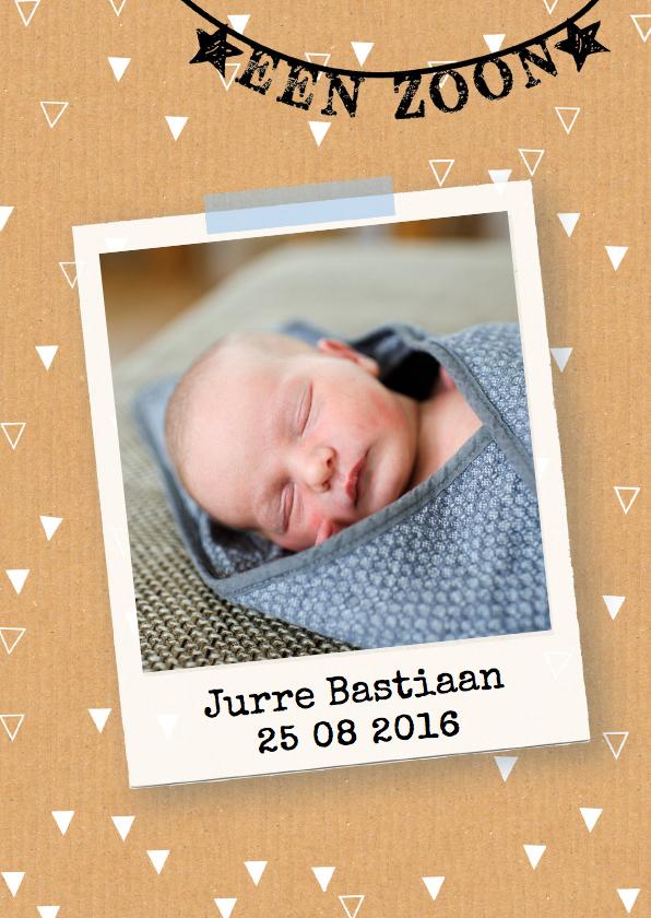 Geboortekaartjes - geboortekaartje polaroid  boy