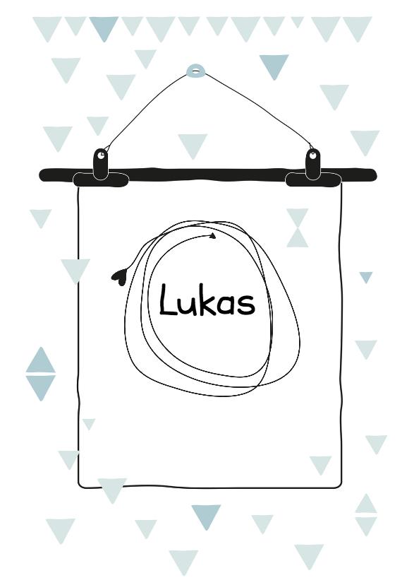 Geboortekaartjes - Geboortekaartje Poster Lukas