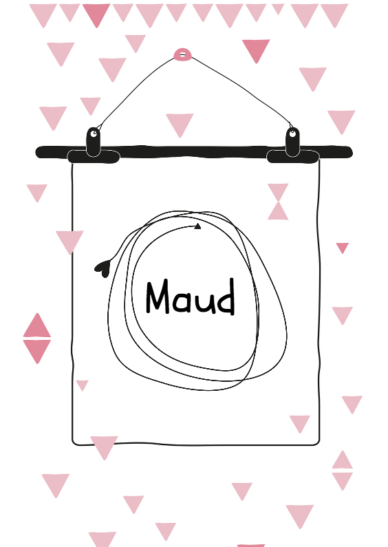 Geboortekaartjes - Geboortekaartje Poster Maud