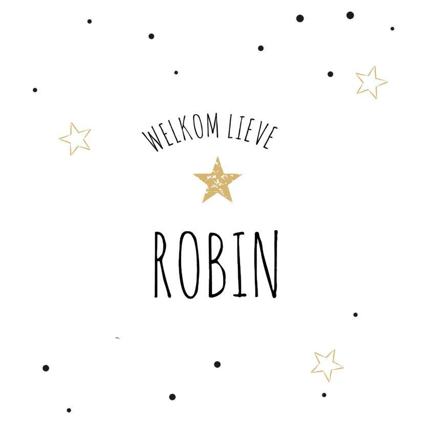 Geboortekaartjes - Geboortekaartje Robin stipjes