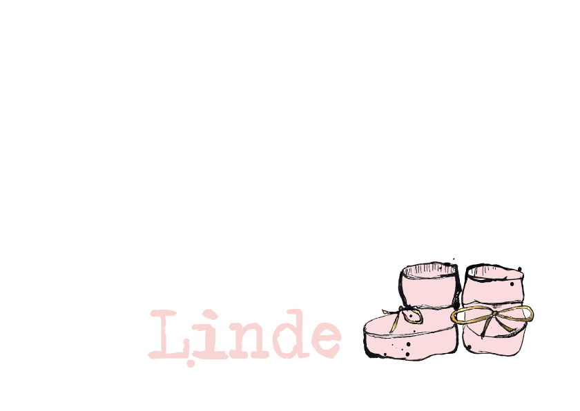 Geboortekaartjes - Geboortekaartje roze slofjes