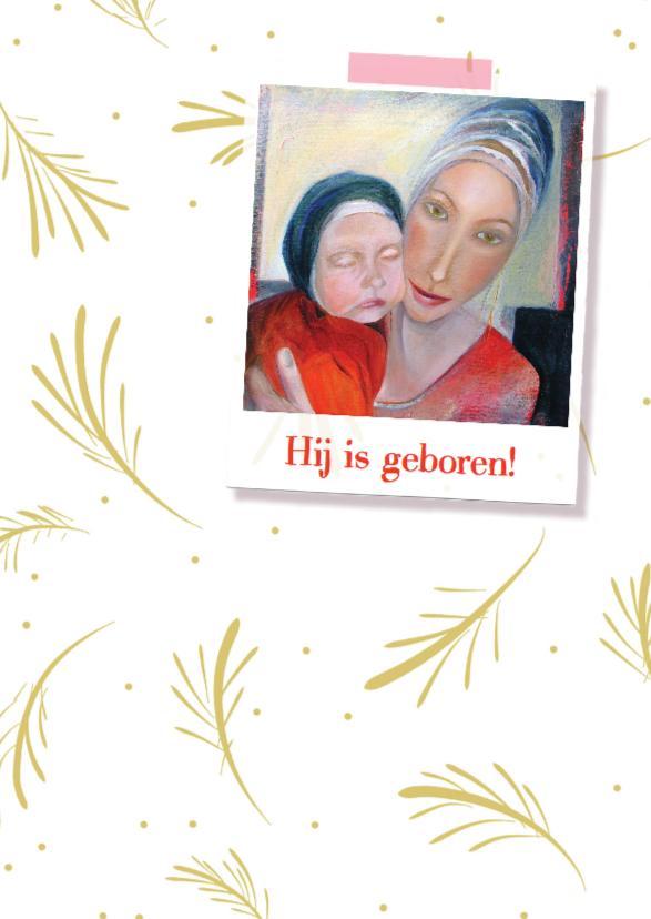 Geboortekaartjes - Geboortekaartje schilderij kind