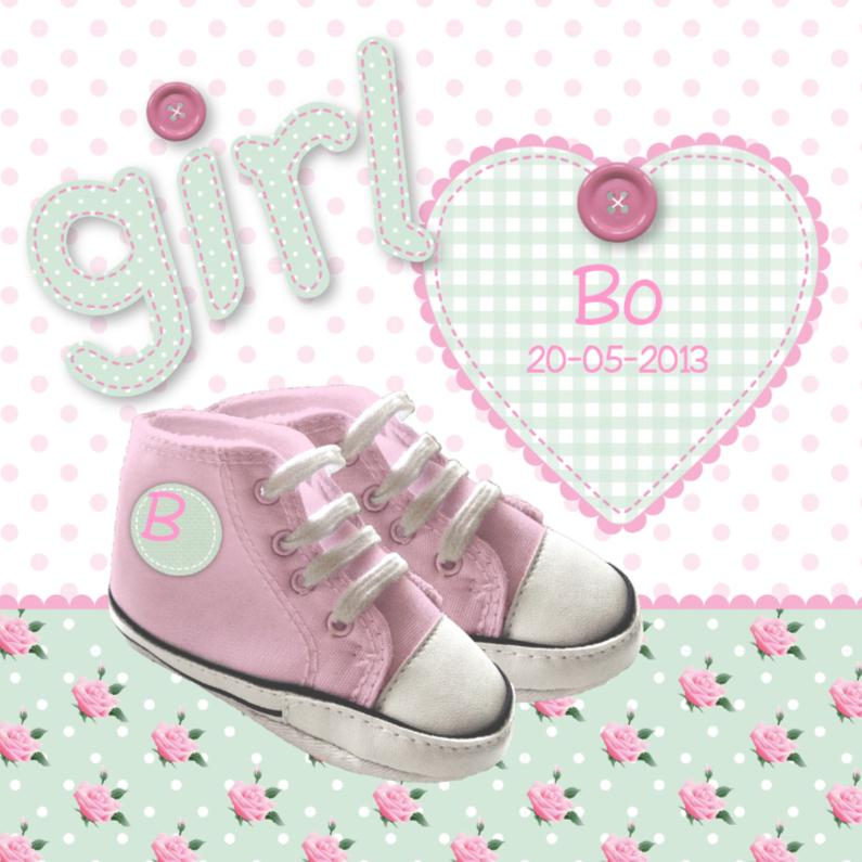 Geboortekaartjes - Geboortekaartje Schoentjes Meisje