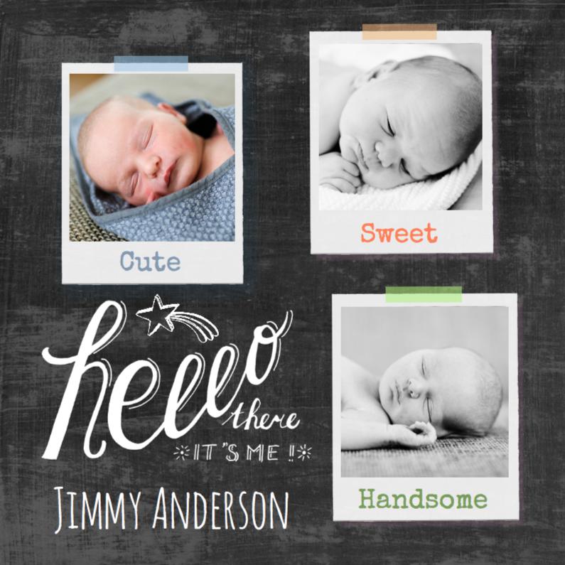 Geboortekaartjes - Geboortekaartje schoolbord krijt