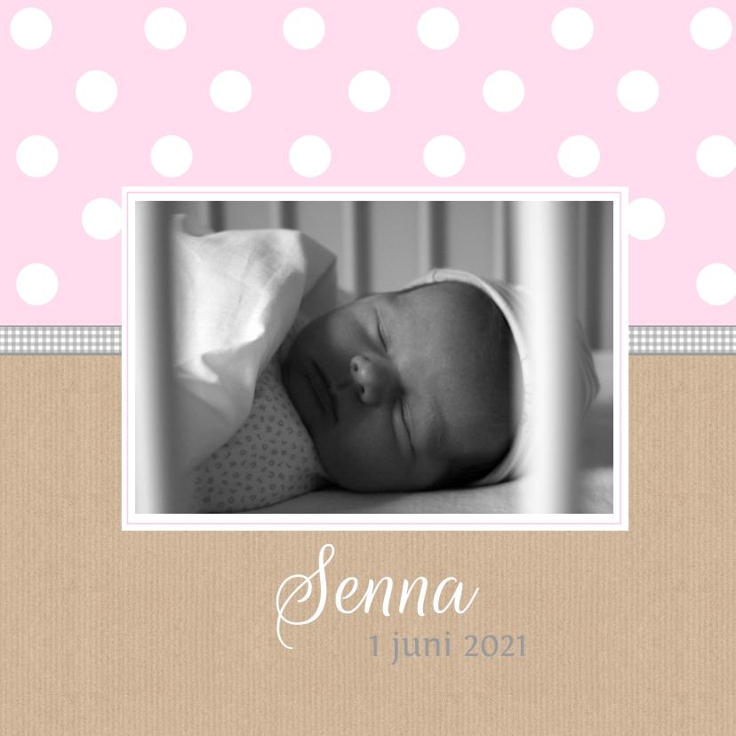 Geboortekaartjes - Geboortekaartje Senna stippen